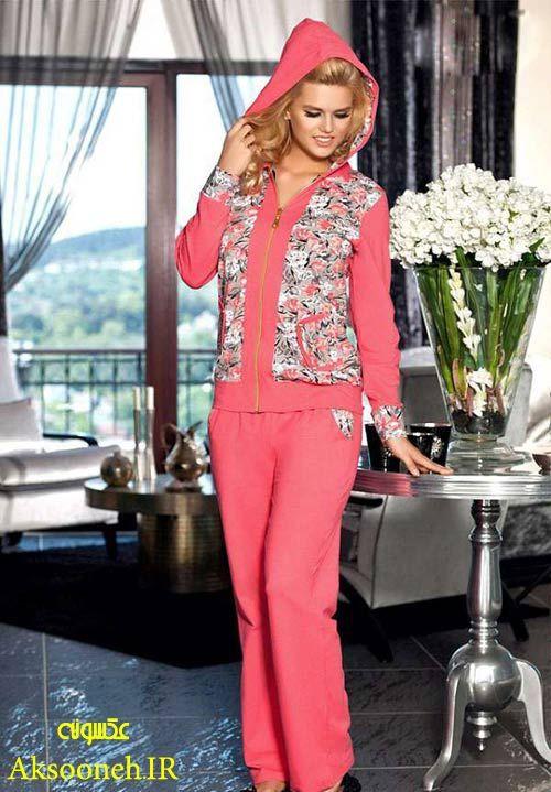 تصاویری از زیباترین مدل های لباس راحتی و توخونه ای زنانه, Slack suits