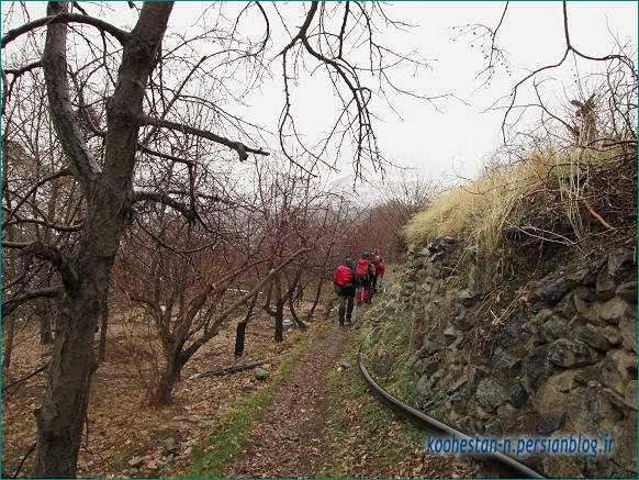 مسیر قله واریش به سمت وردیج
