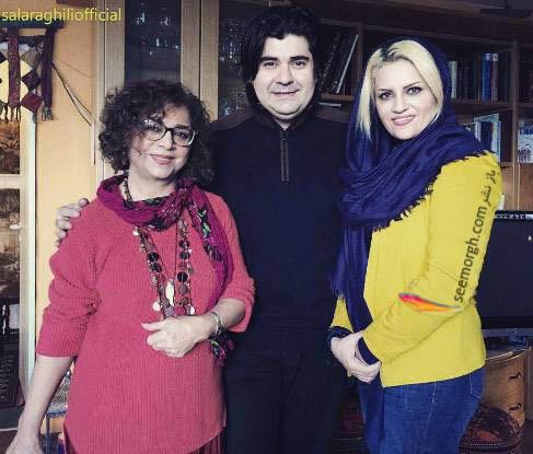 عکس سالار عقیلی و همسرش در کنار خواننده معروف زن ! , چهره های ایرانی