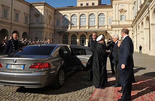 ماشین مدل بالا روحانی در ایتالیا+عکس , اخبار گوناگون