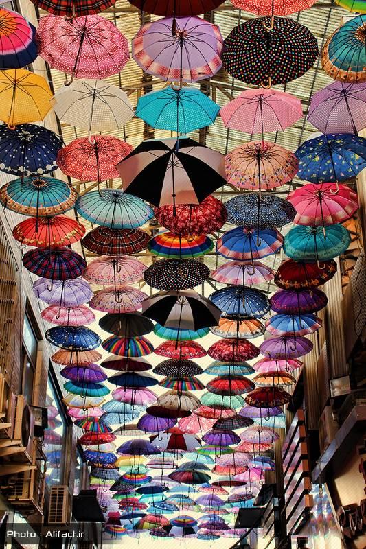 کوچه چترها - بازار زرگرها - شیراز