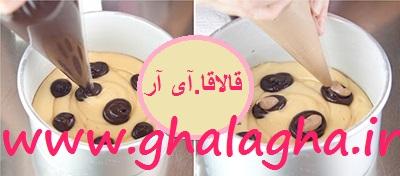 طرز تهیه کیک طرحدار پلنگی