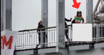 برهنه شدن یک زن در اعتراض به سفر روحانی به پاریس , سیاسی