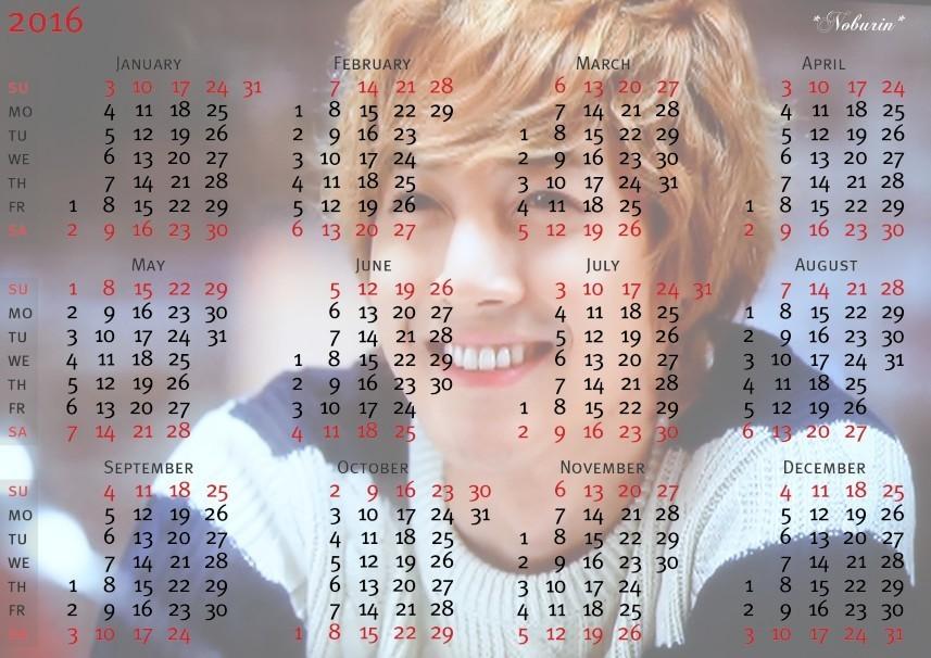 Fanart - Kim Hyun Joong 2016 Calendar