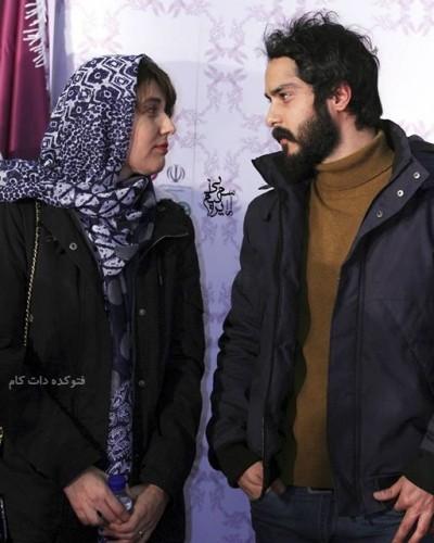 گلوریا هاردی بازیگر نقش رها در کیمیا و همسرش در جشنواره فیلم فجر 94