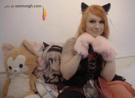 دختر 20 ساله ای که مانند گربه زندگی می کند؟ , جالب و خواندنی