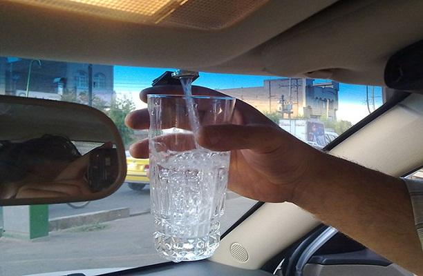 شیر آب برقی گلچین داشبورد ماشین