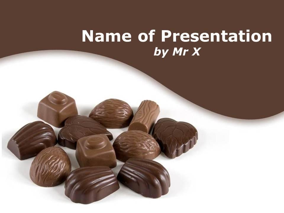 قالب پاورپوینت شیرینی شکلاتی