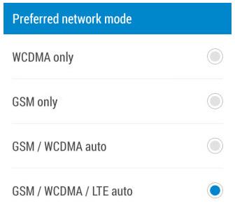 preferred-network-mode,اموزش افزایش سرعت اینترنت های 3G و 4G,how to speedup 3g and 4g internets,GSM چیست,GSM/WCDMA/LTE auto چیست,Opera MaxOpera mini،WCDMA چیست،افزایش سرعت اینترنت,lineee.ir
