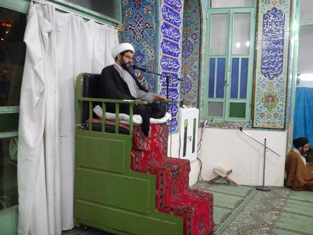 سخنرانی امام جمعه قهدریجان در مسجد امام صادق (ع) کلیشاد