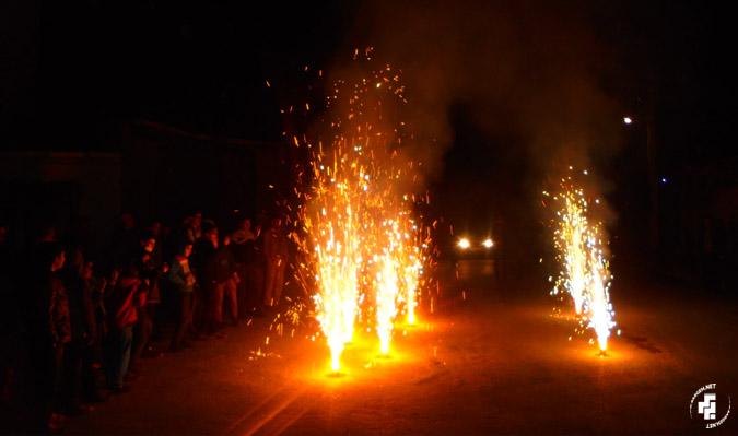 نور افشانی و صدای الله اکبر در روستا طنین انداز گردید