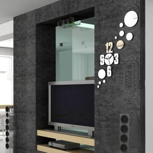 ساعت دیواری آینه ای الماس