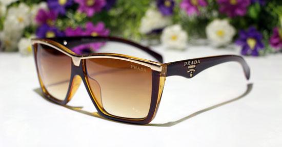 عینک آفتابی مردانه فریم قهوه ایی پرادا آیز
