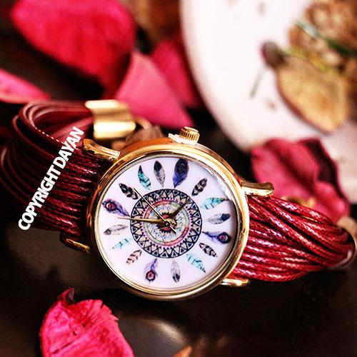 ساعت مچی دخترانه بند قرمز