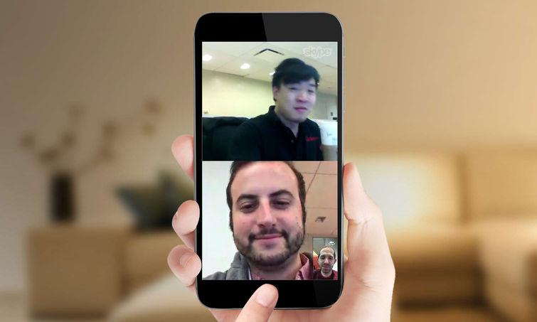 آموزش,آموزش اسکایپ,آموزش تماس تصویری اسکایپ,آموزش تماس گروهی اسکایپ,آی او اس,اسکایپ,اندروید,ترفند,نرم افزار,group video calling on skype,ترفندهای اسکایپ,skype