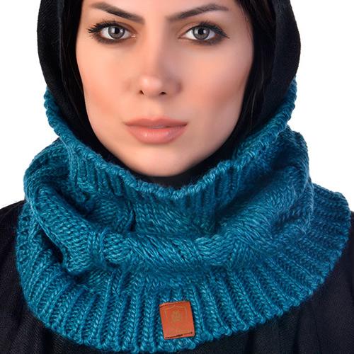 شال گردن آبی