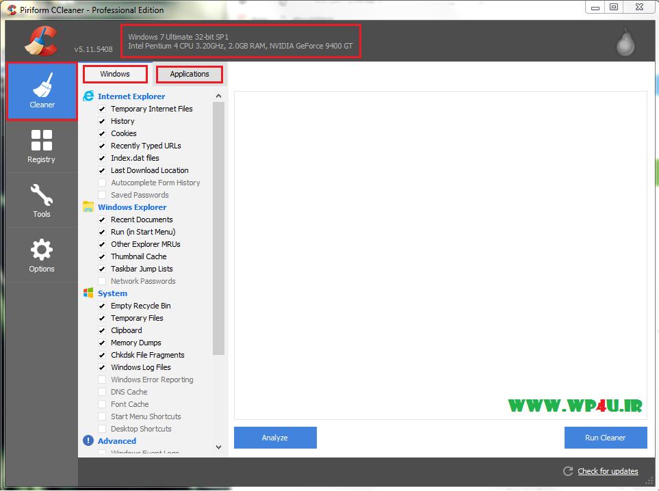 آموزش بهینه سازی ویندوز با CCleaner