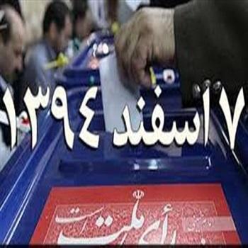 اعلام نتایج انتخابات 7 اسفند 94 به تفکیک استان ها