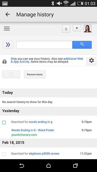 google,Google now,آموزش,آموزش Google now,تاریخچه,تاریخچه Google now,ترفند Google now,حذف تاریخچه,نرم افزار,how to clear google now history,ترفندهای اندروید