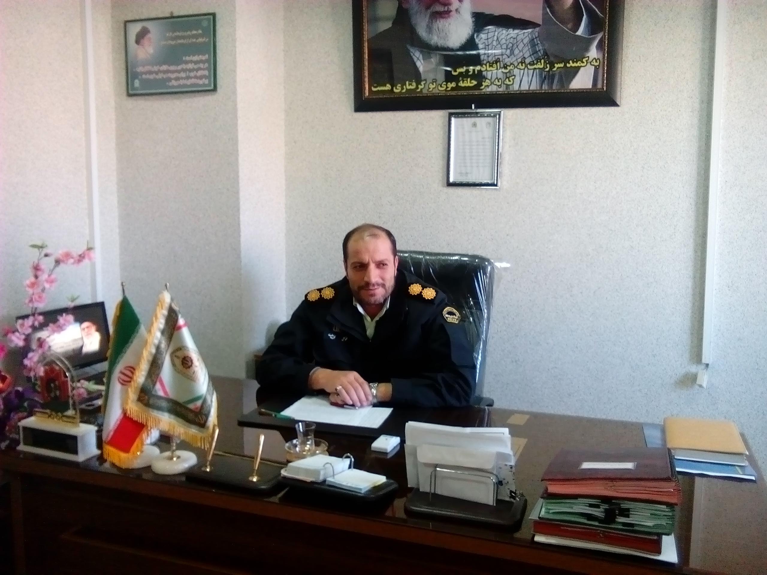 سرهنگ محمد علی محمدی فرمانده انتظامی کبود راهنگ