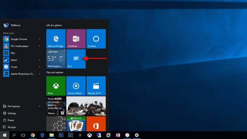 run ، run در منو start,run ویندوز,start,افزودن run,منو استارت ویندوز 10,ویندوز 10,ترفندهای ویندوز 10,windows 10 start menu run command,افزودن run به منوی استارت