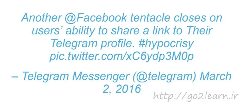 جنگ اینستاگرام و تلگرام