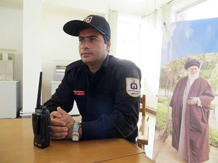 رحیم حضرتی رئیس ایستگاه آتش نشانی آذرشهر