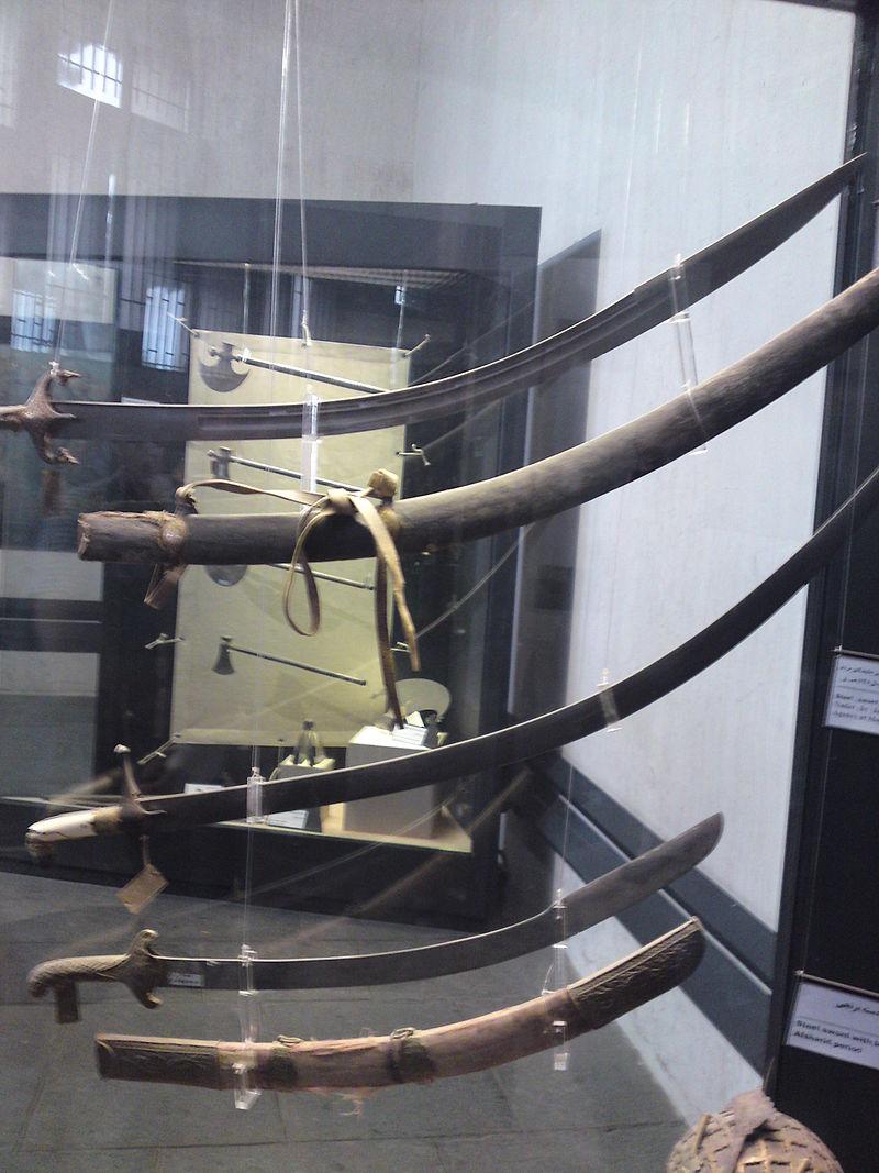 شمشیر نادرشاه افشار در موزه آرامگاه نادرشاه