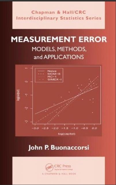 دانلود رایگان کتاب خطای اندازه گیری: مدل، روش ها، و برنامه های کاربردی