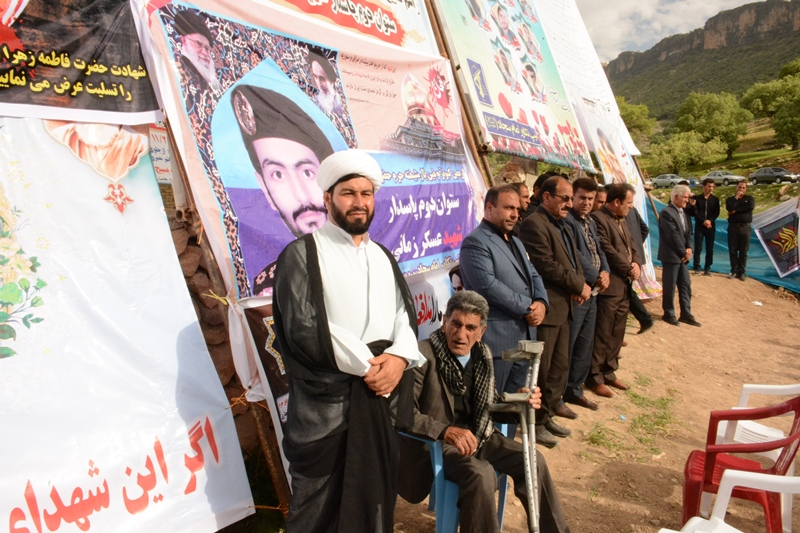 تصاویر مراسم اربعین شهید مدافع حرم عسکر زمانی