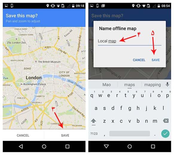 google maps for offline use,Google maps بدون اینترنت,آموزش Google Map,آموزش Google Map آفلاین,ترفند اندروید,ترفند موبایل,گوگل مپ آفلاین,گوگل مپ بدون اینترنت