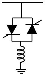 شکل مدار ساده شده TCR