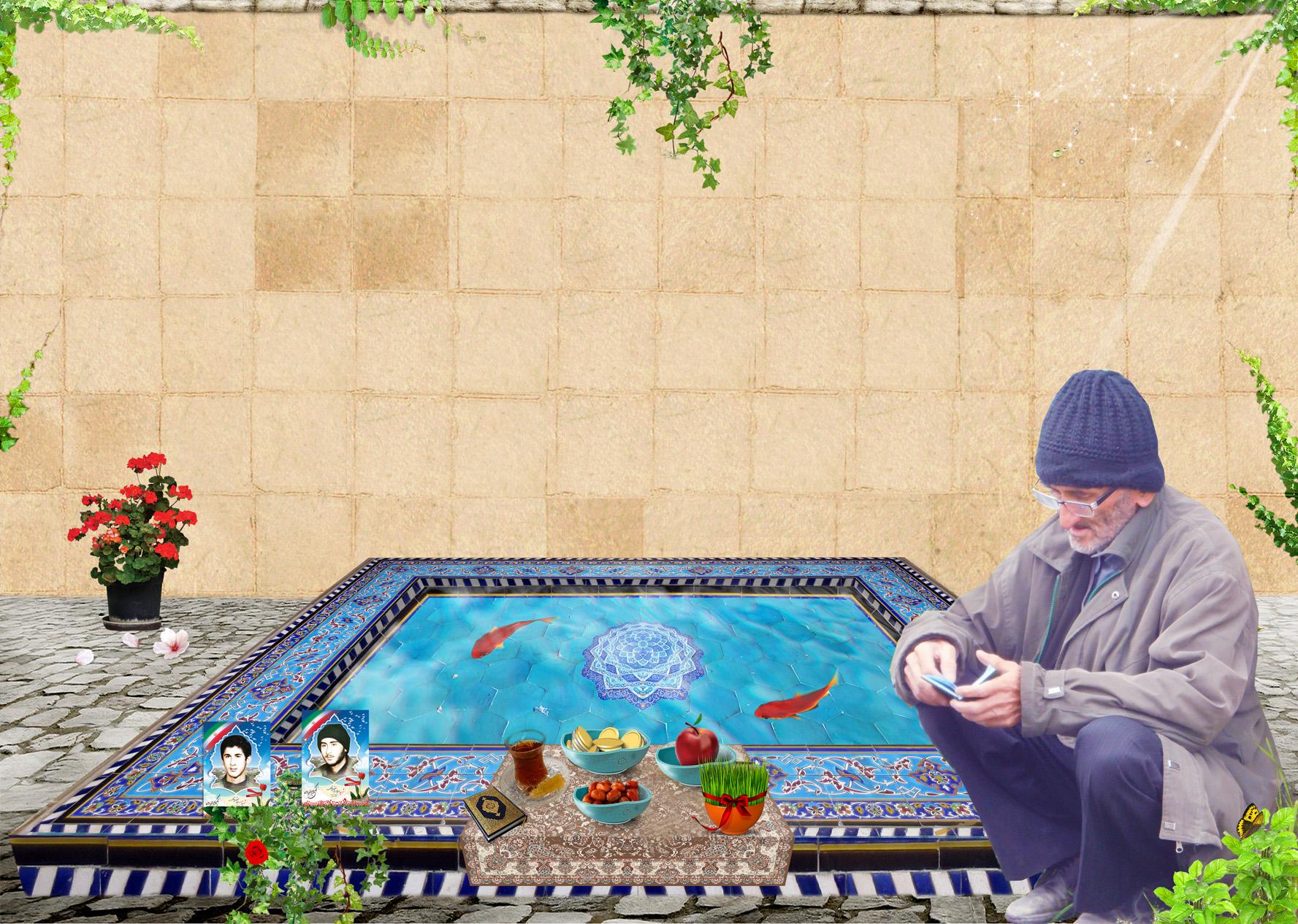 پوستر ویژه ی پدر شهیدان سعید و سهراب اسفندیاری  به مناسبت سال نو
