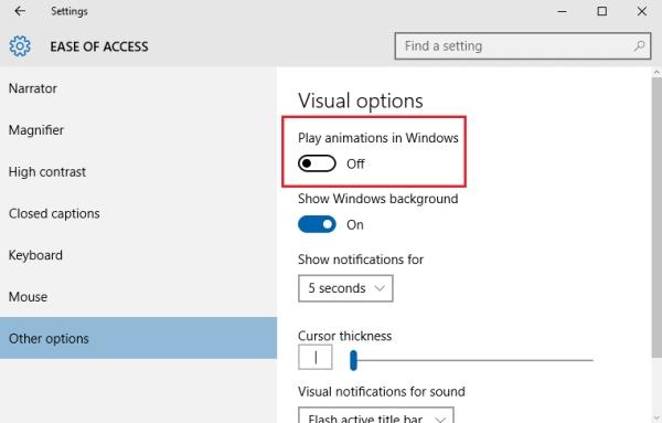 انیمیشن ویندوز,انیمیشن ویندوز 10,ترفند,ترفند ویندوز 10,ویندوز,ویندوز 10,اموزش,ترفند,عیر فال کردن انیمیشن های ویندوز 10,حذف انیمیشن های ویندوز 10,ترفندهای ویندوز