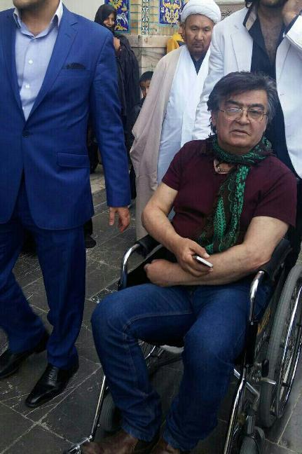 رضا رویگری برروی ویلچر در مشهد/ عکس , چهره های ایرانی