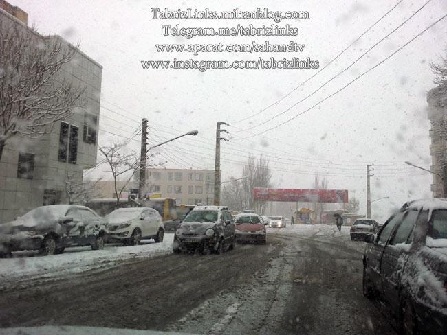 برف سنگین تبریز
