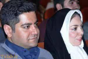 آزاده نامداری و شوهرش در یک مراسم , چهره های معروف