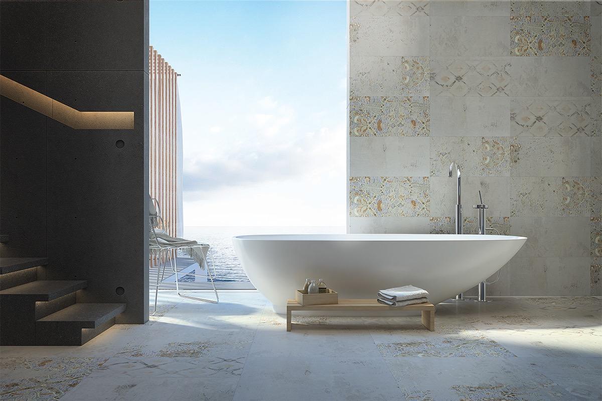 طراحی حمام لوکس