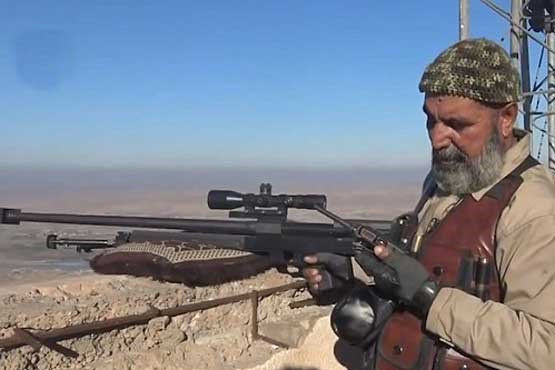 تک تیرانداز 62 ساله بلای جان داعشی ها +تصاویر , بین الملل