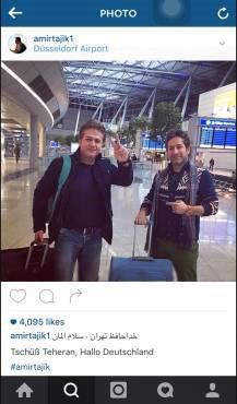 مهاجرت امیر تاجیک خواننده موسیقی پاپ ایران به آلمان