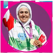 برنده بهترین ورزشکار زن سه ستاره 95