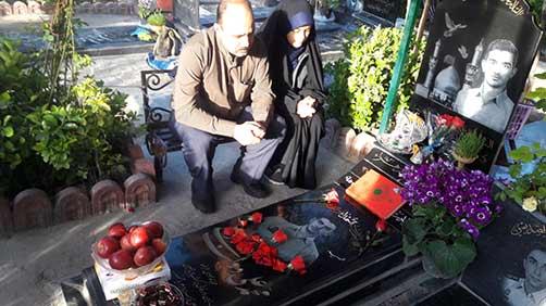 تحویل سال1395 در کنار مزار شهدا – مزار شهید محمد علی دولت آبادی بهشت زهرا(س) تهران
