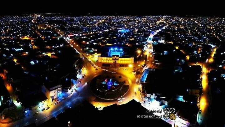 عکس هوایی از شهر برازجان