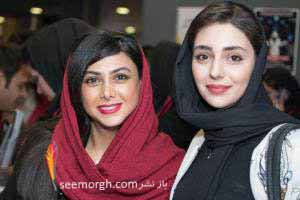 عکس های آزاده صمدی در حال فروختن بلیت به مردم! , عکس بازیگران