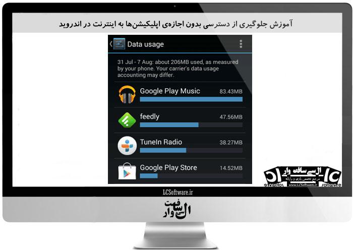 آموزش جلوگیری از دسترسی بدون اجازهی اپلیکیشنها به اینترنت در اندروید