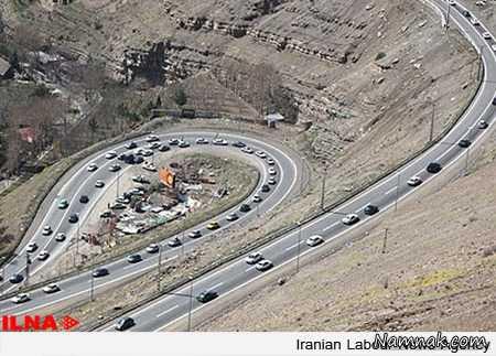 وضعیت ترافیکی جاده چالوس و هراز جمعه 13 فروردین 95