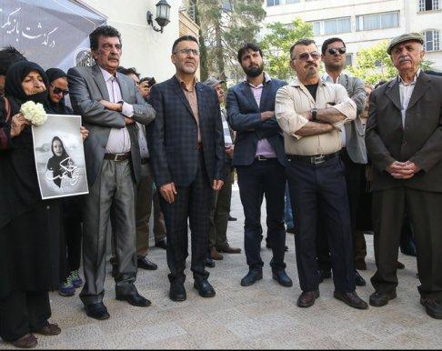 مراسم تشییع پیکر ثریا حکمت با حضور هنرمندان , اخبار فرهنگ وهنر