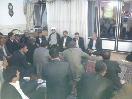 دیدار اعضاء ستاد نماز جمعه با امام جمعه قهدریجان