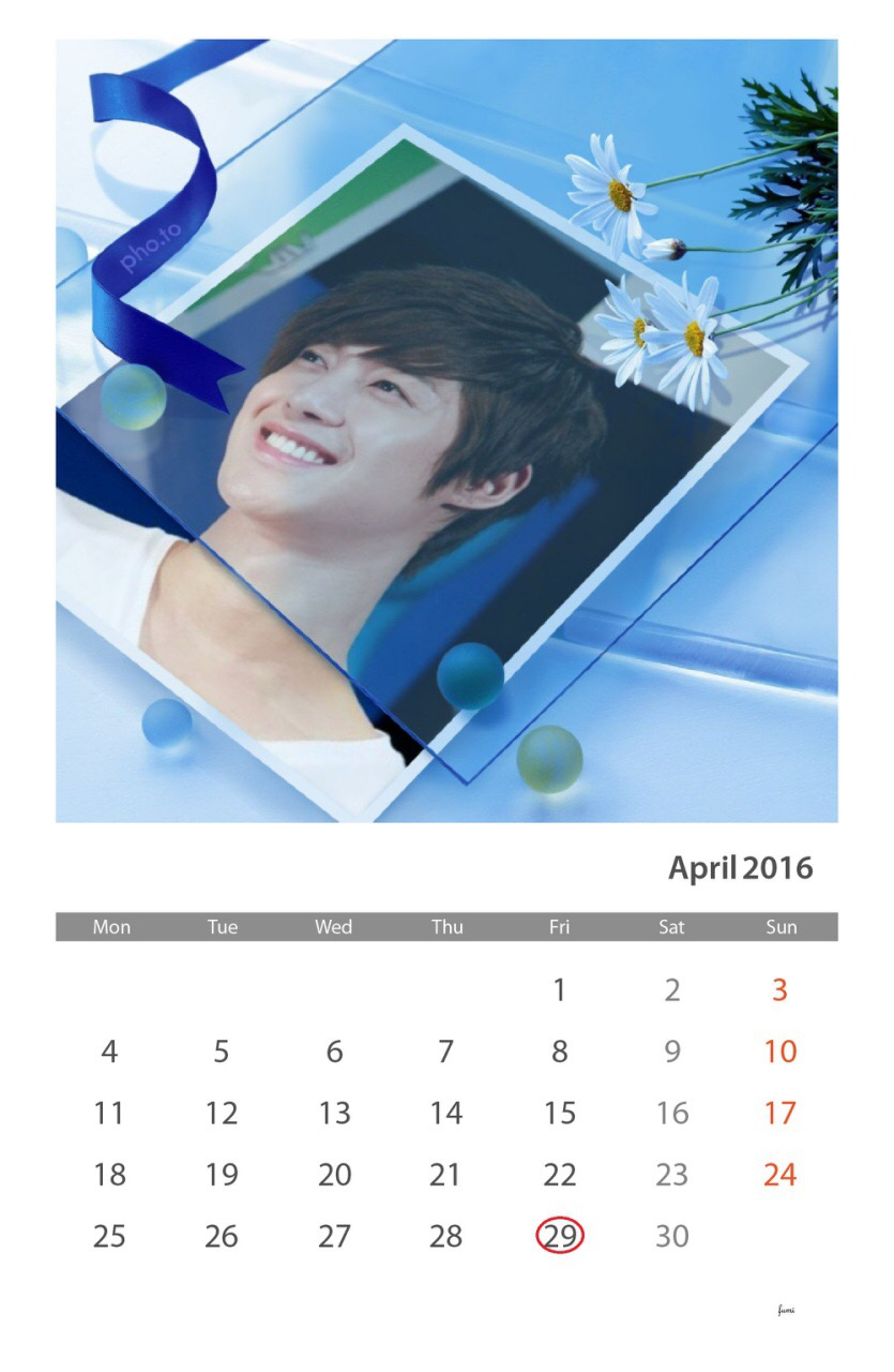 Fan art - Calendar of April 2016