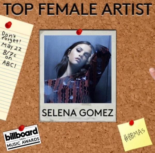 کاندید سلنا در دو بخش Billboard Music Awards 2016